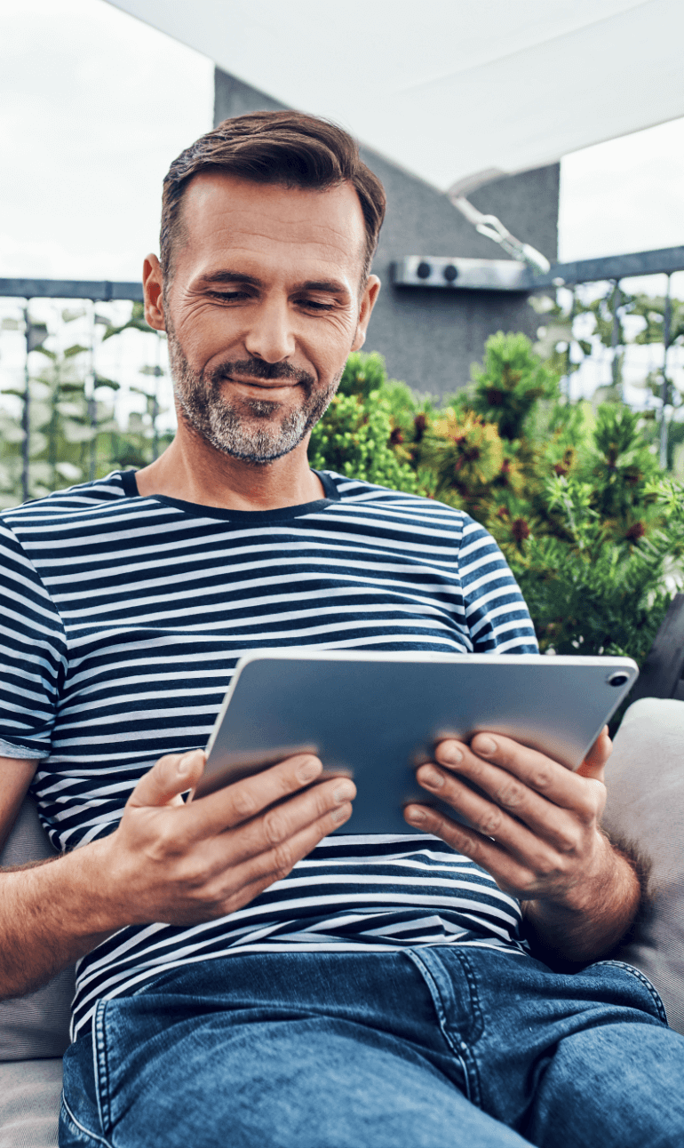 Guy with tablet