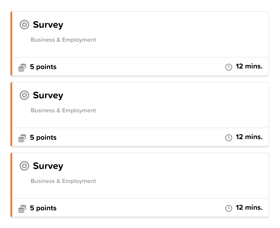 Surveys Activity Wall